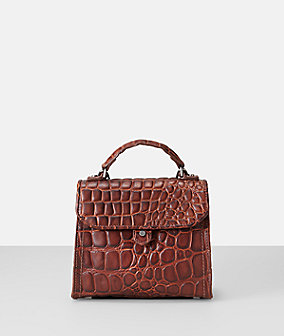 Croco Embossed leather mini top handle bag from liebeskind