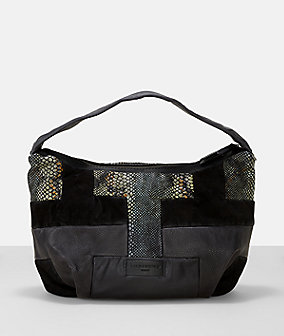 Leather snakeskin patchwork hobo from liebeskind