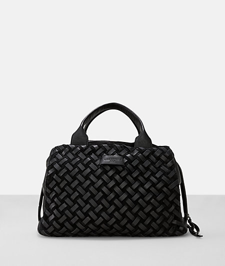 Suede leather woven satchel from liebeskind