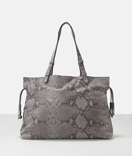 Snake embossed leather drawstring tote from liebeskind