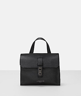 Pebbled leather mini top handle bag from liebeskind