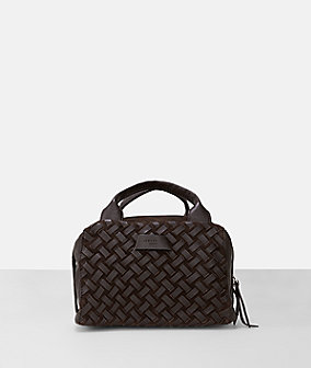 Suede leather woven small satchel from liebeskind