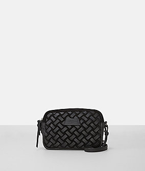 Suede leather woven small crossbody from liebeskind