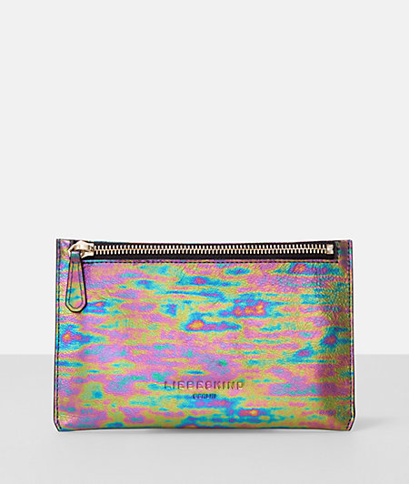 Make-up bag in a rainbow look from liebeskind