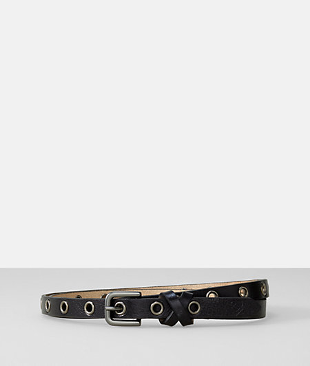 Leather belt with eyelets from liebeskind