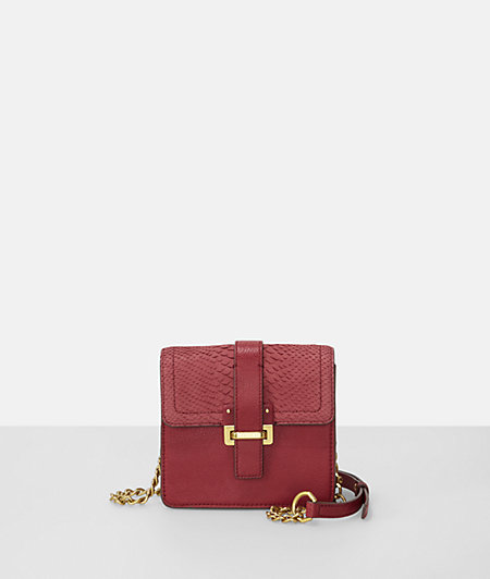 Mini bag with a python embossing from liebeskind