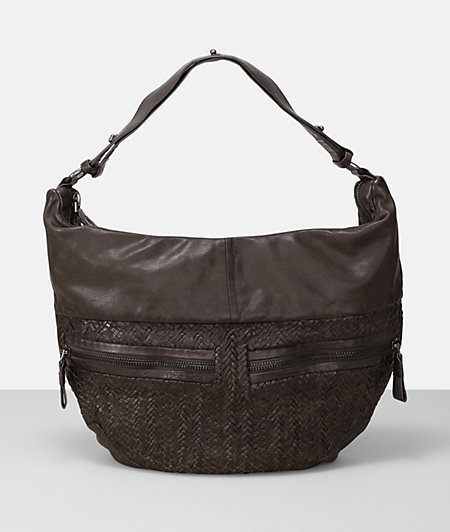 Hobo bag with a braided insert from liebeskind