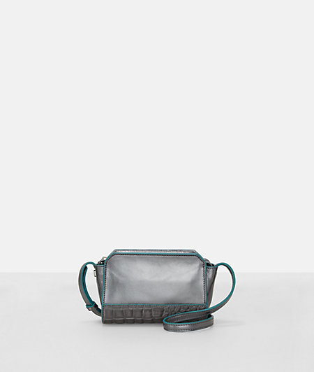 Shoulder bag with a metallic look from liebeskind