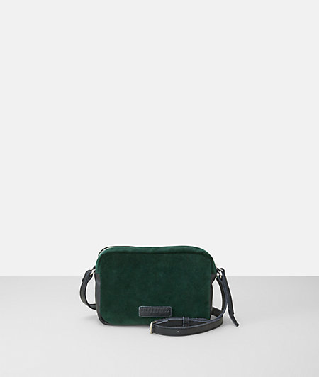 Shoulder bag in leather and velvet from liebeskind