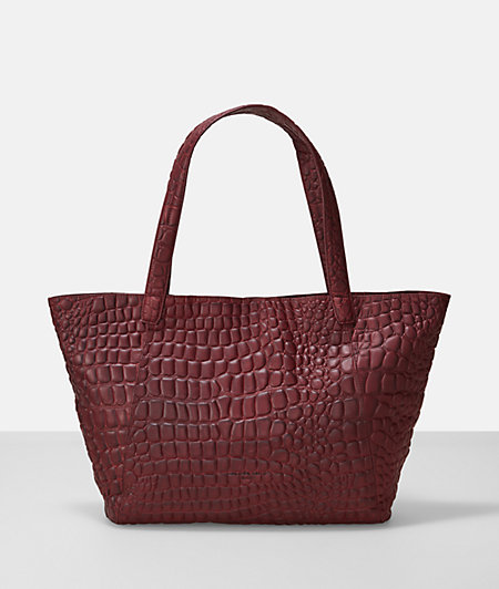 Shopper bag with a reptile pattern from liebeskind