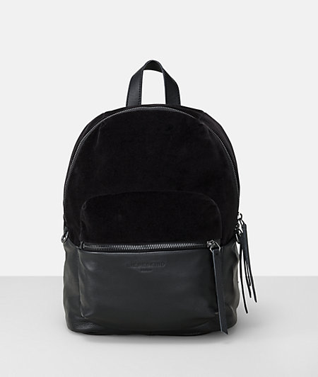 Rucksack in leather and velvet from liebeskind
