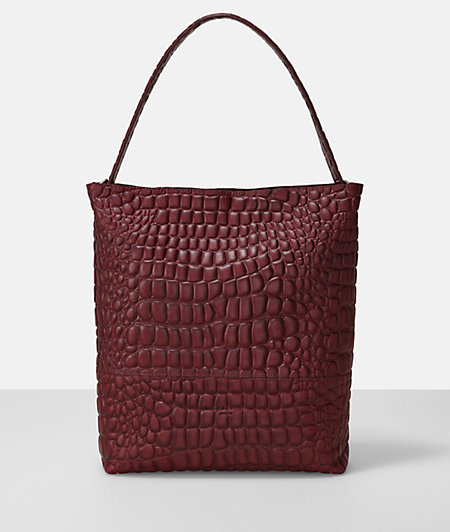 Shoulder bag with a reptile pattern from liebeskind