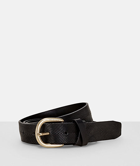 Leather belt with a textured pattern from liebeskind