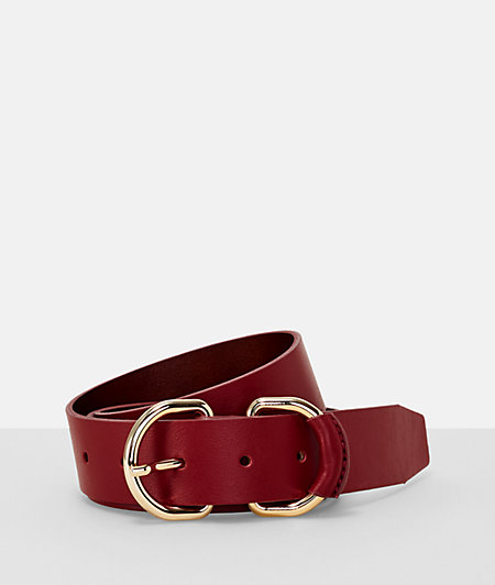Leather belt with metal loop from liebeskind