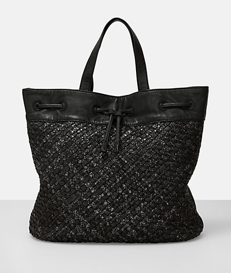 Shopper with a braided pattern from liebeskind