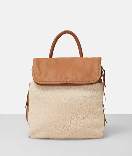 Rucksack with a shearling front from liebeskind
