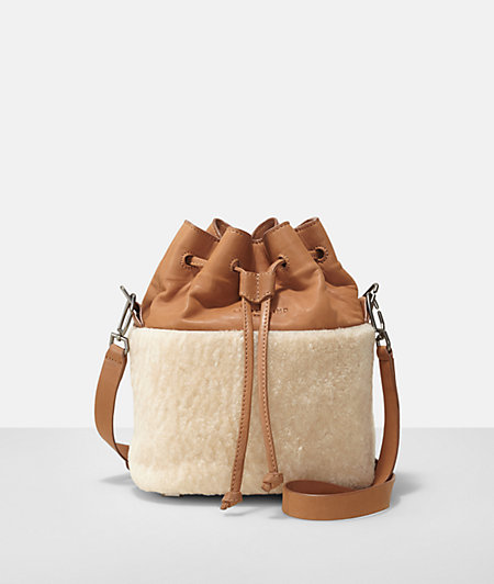 Shoulder bag with shearling from liebeskind