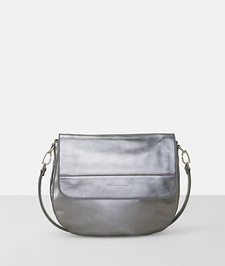 Schultertasche in Metallic-Optik