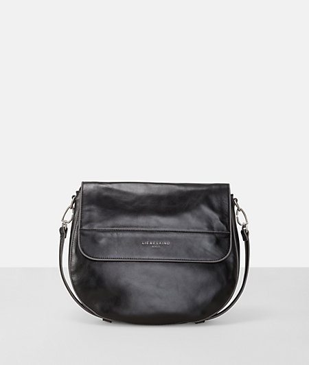 Metallic-look shoulder bag from liebeskind
