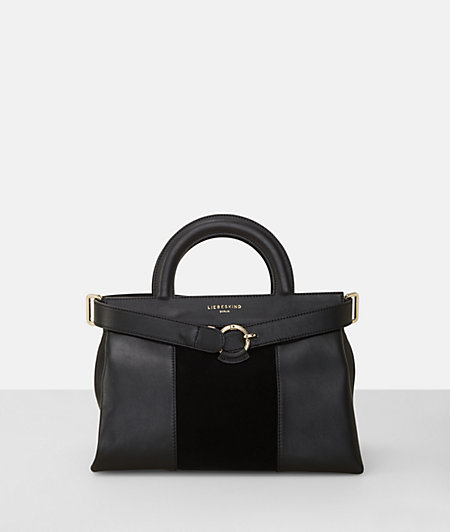 Satchel in a leather mix from liebeskind