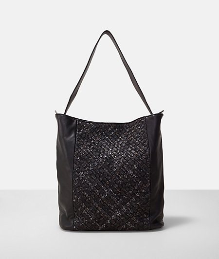 Shopper with a braided insert from liebeskind
