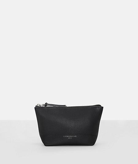 Make-up bag with a slit pocket from liebeskind