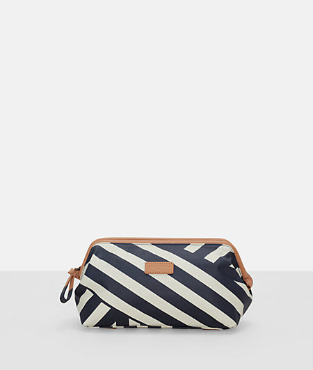 Cosmetics bag with a striped print from liebeskind