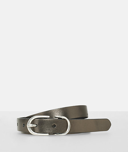 Leather belt with a metallic coating from liebeskind