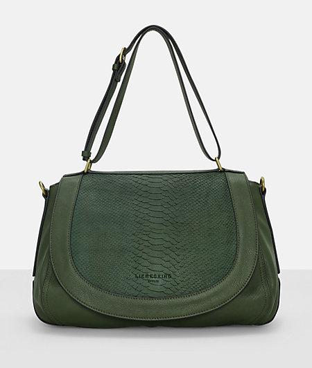 Shoulder bag with embossed python from liebeskind