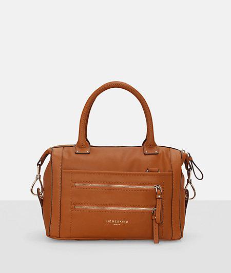 Handbag with polished metal details from liebeskind