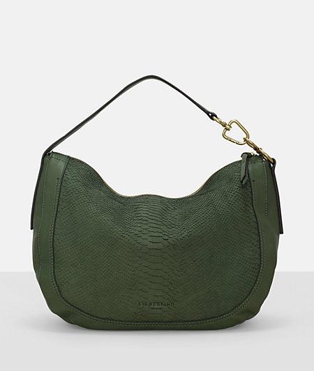 Hobo Bag mit Reptilstruktur