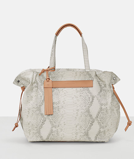 Leather shopper in a reptile-skin look from liebeskind