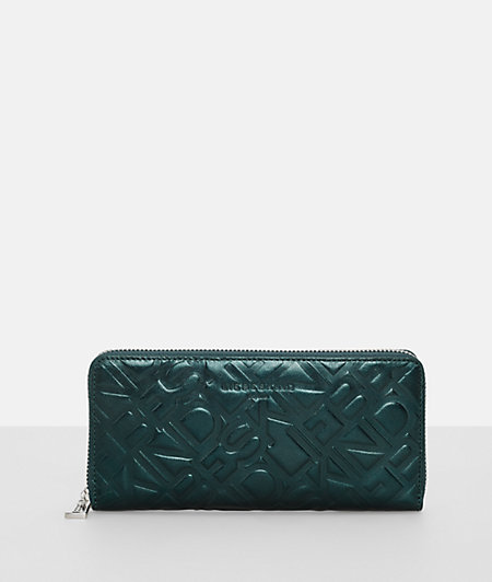 Wallet with embossed logo pattern from liebeskind
