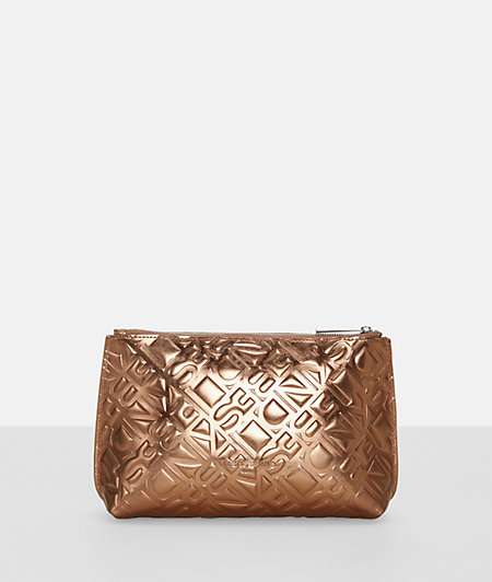Make-up bag with a metallic finish from liebeskind
