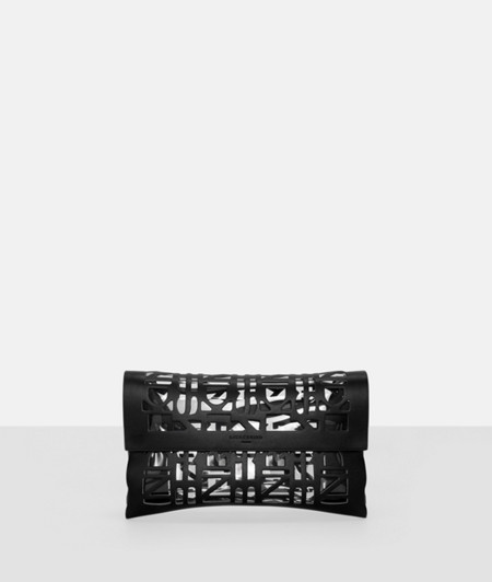 Clutch with logo cut-outs from liebeskind