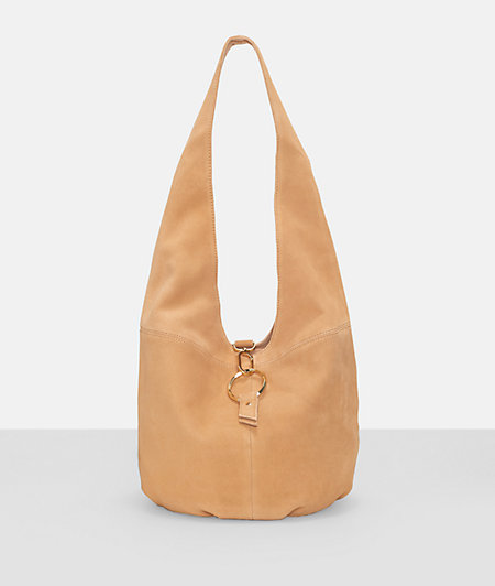 Hobo bag with a metal clasp from liebeskind