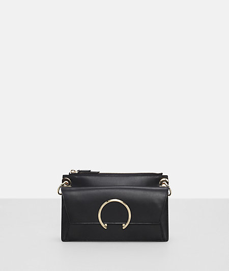 Shoulder bag with a ring fastening from liebeskind