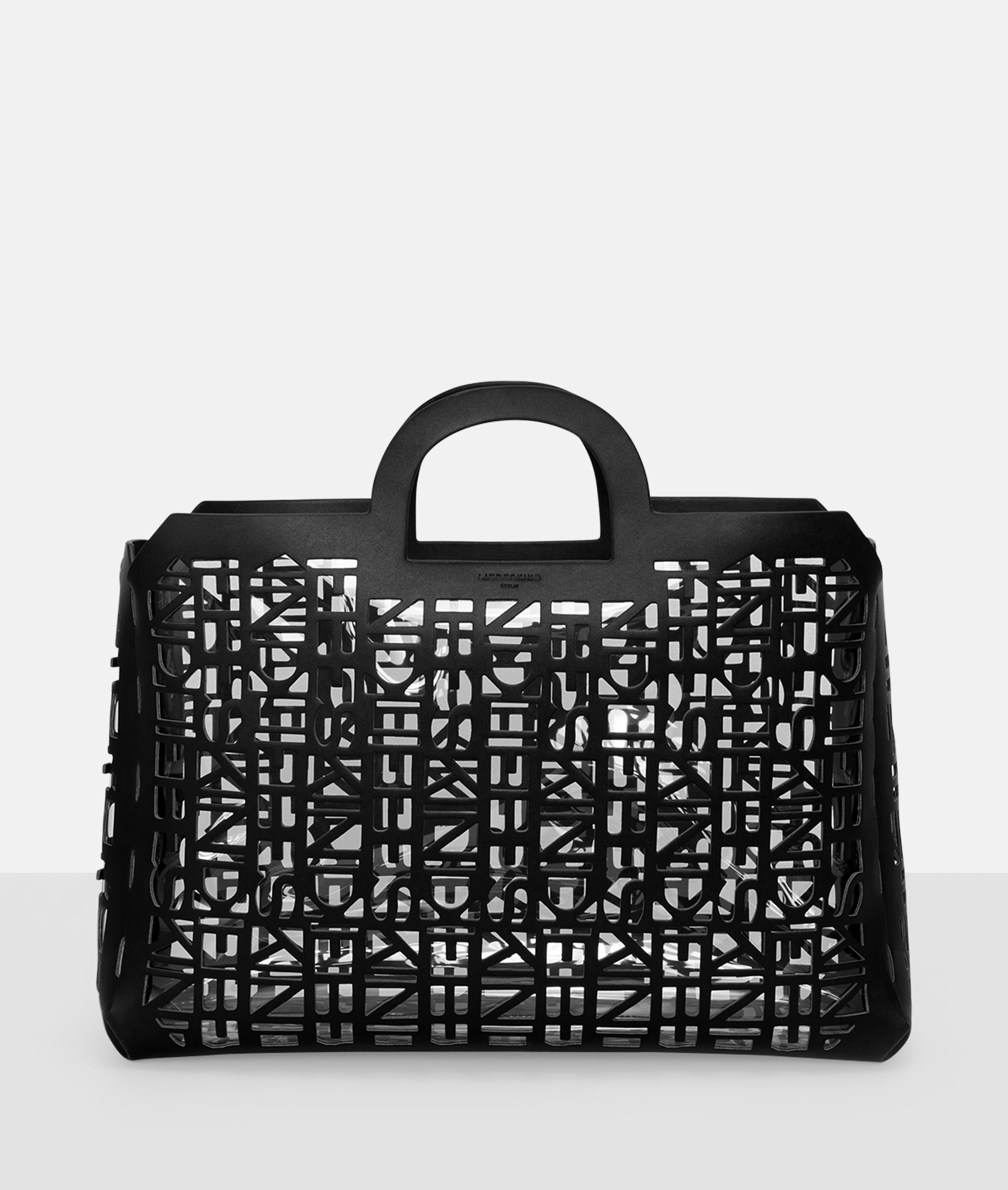 Berlin Tasche 2D3D Shopper L, Grau/Schwarz