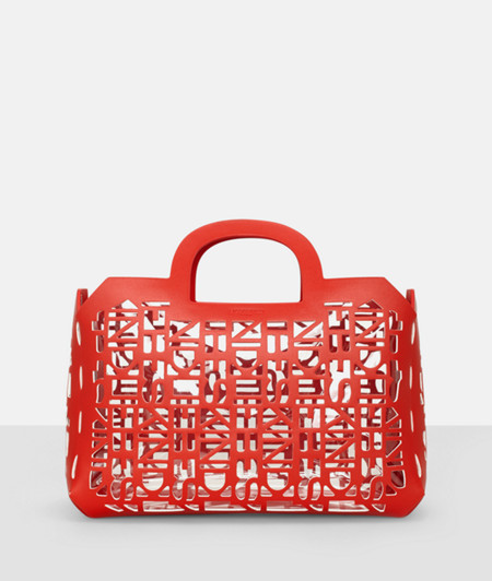 Shopper with logo cut-outs from liebeskind