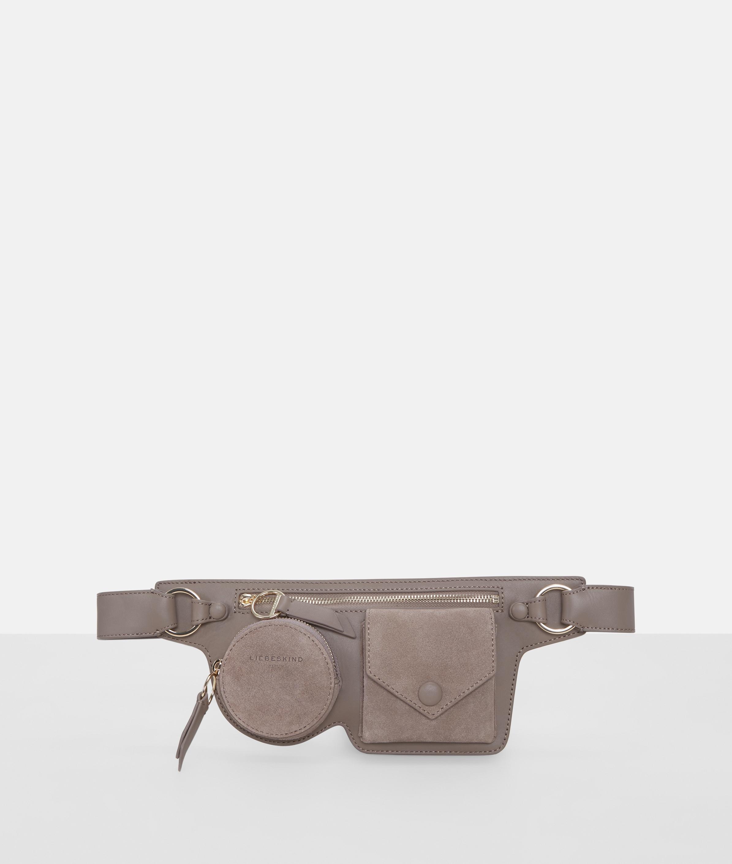 liebeskind berlin - Gürteltasche mit Fronttaschen, Grau/Schwarz