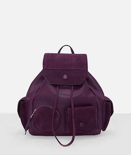 Leather mix backpack and small pockets from liebeskind