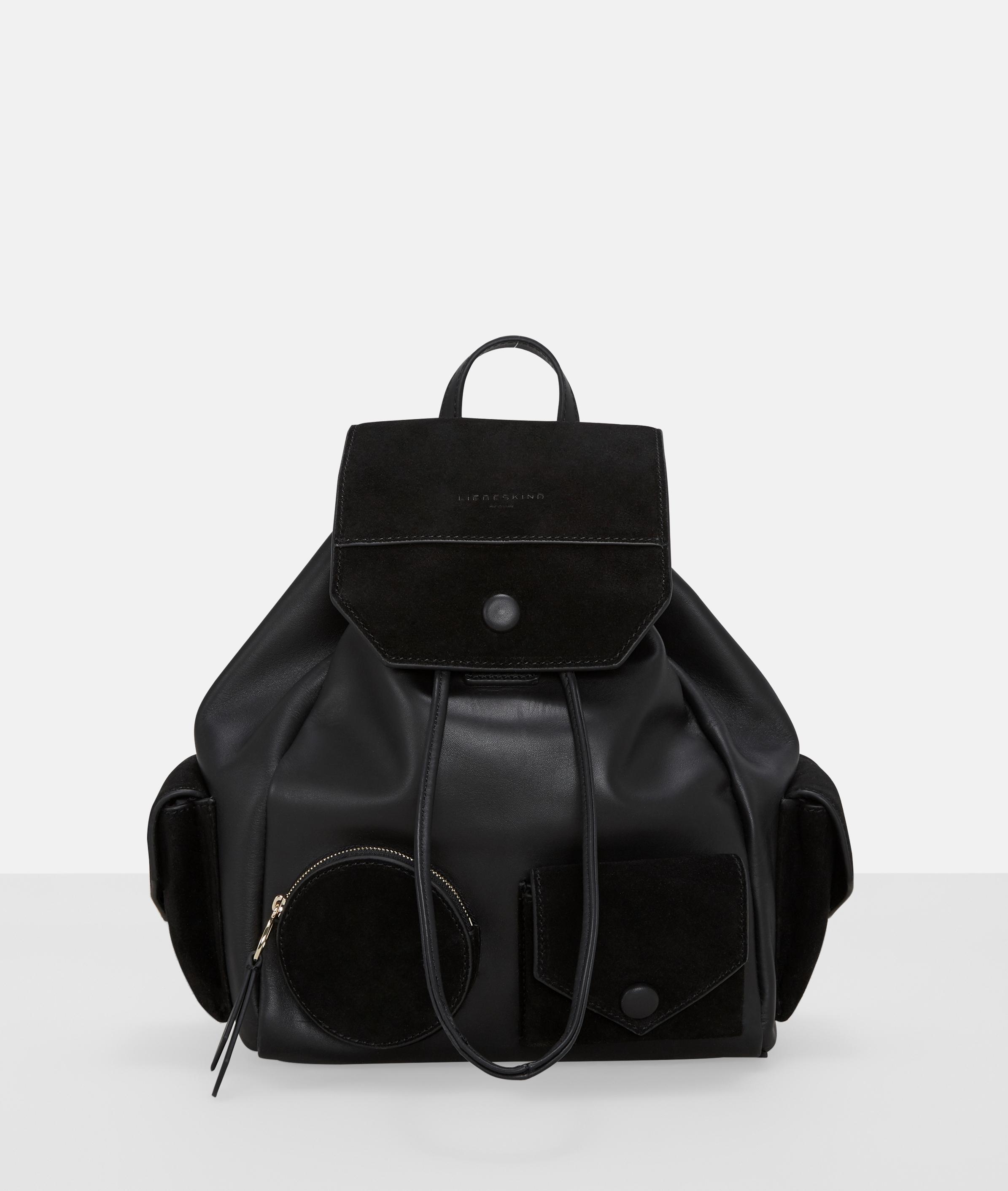 Berlin Tasche Casual Pocket Backpack M, Grau/Schwarz