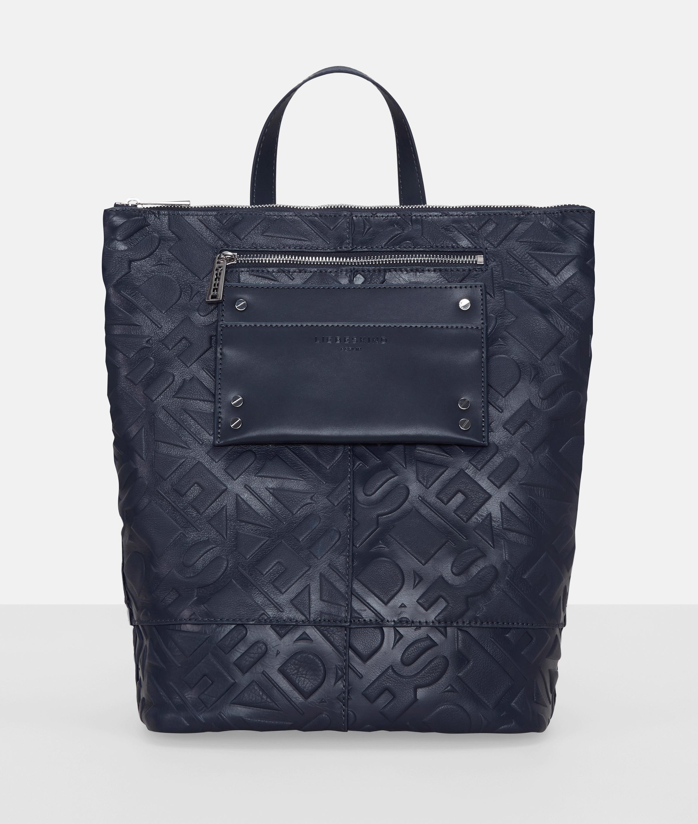 Berlin Tasche Logo Backpack M, Blau