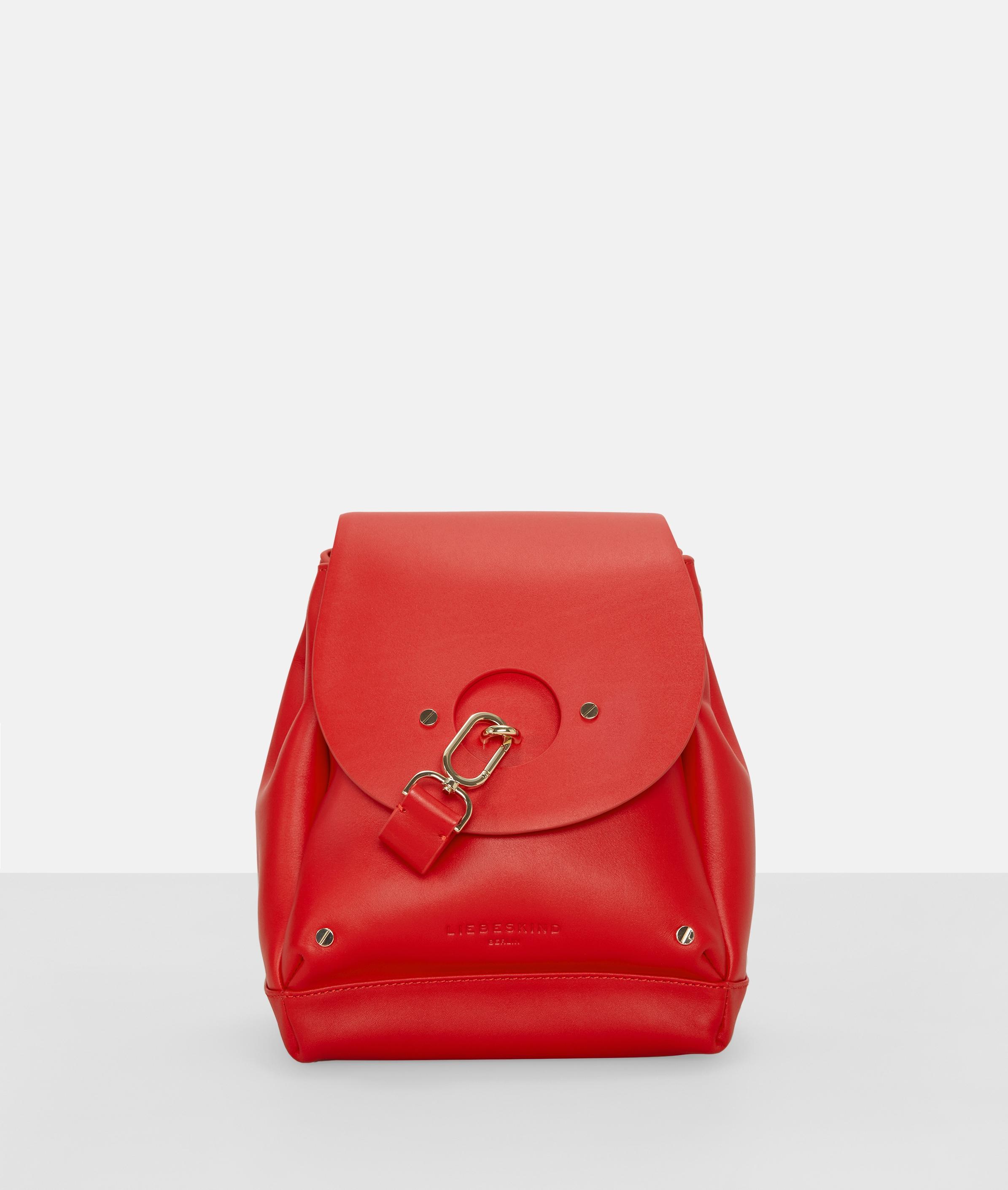 Berlin Tasche Round Flap Bucket Bag M, Rot