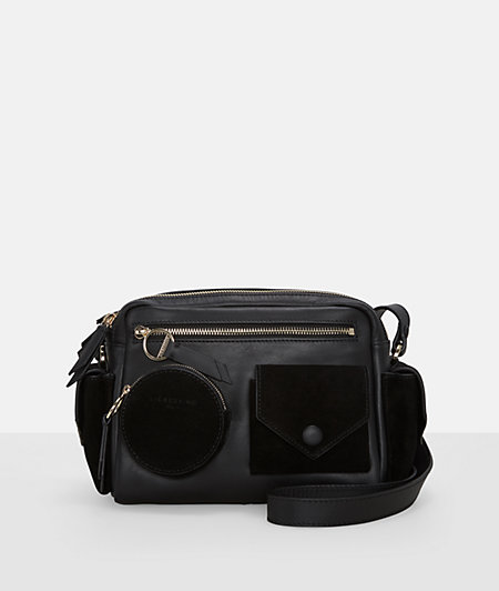 Shoulder bag with front and side pockets from liebeskind
