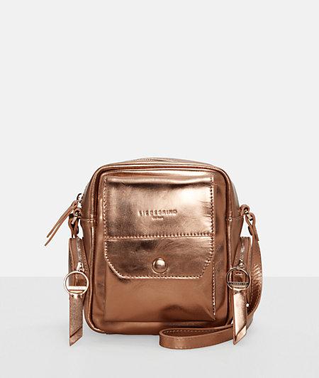 Crossbody-Bag im Metallic-Look