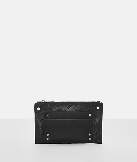 Clutch with all-over logo embossing from liebeskind