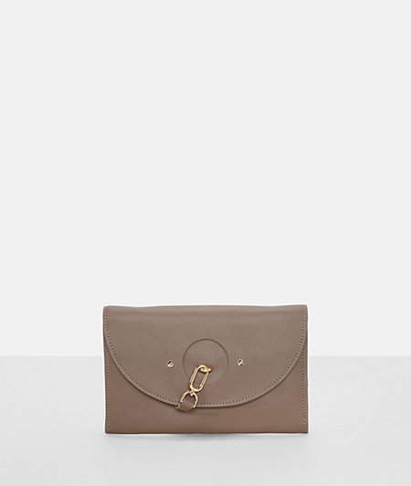 Clutch with a metal lobster clasp from liebeskind