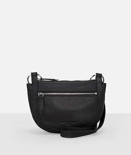 Shoulder bag with oversized lobster clasps from liebeskind