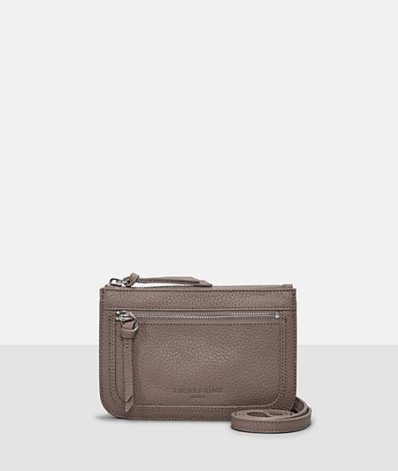 Grained leather shoulder bag from liebeskind